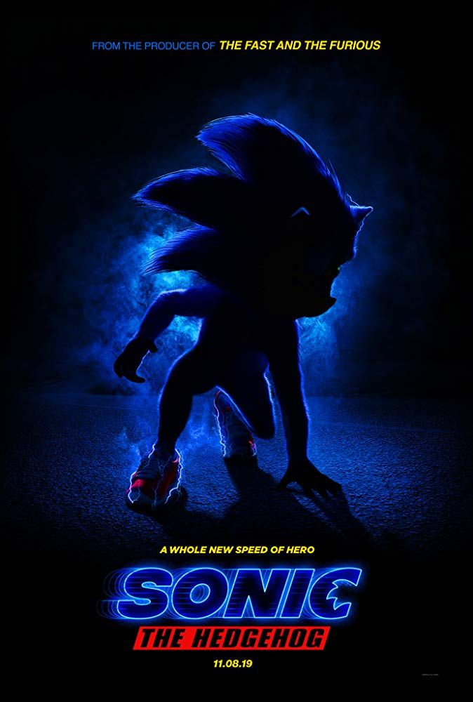 Plakat filmu Sonic the Hedgehog